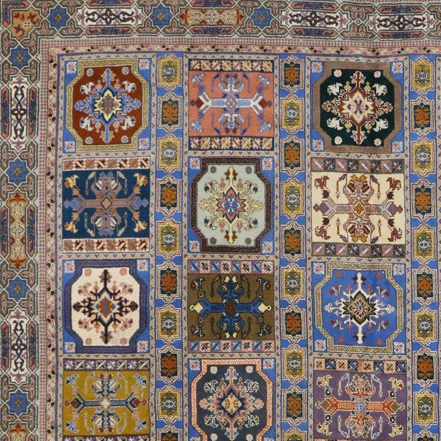 Blue Rabat Moroccan Rug With Compartment Design - For Sale - Image 8 of 9