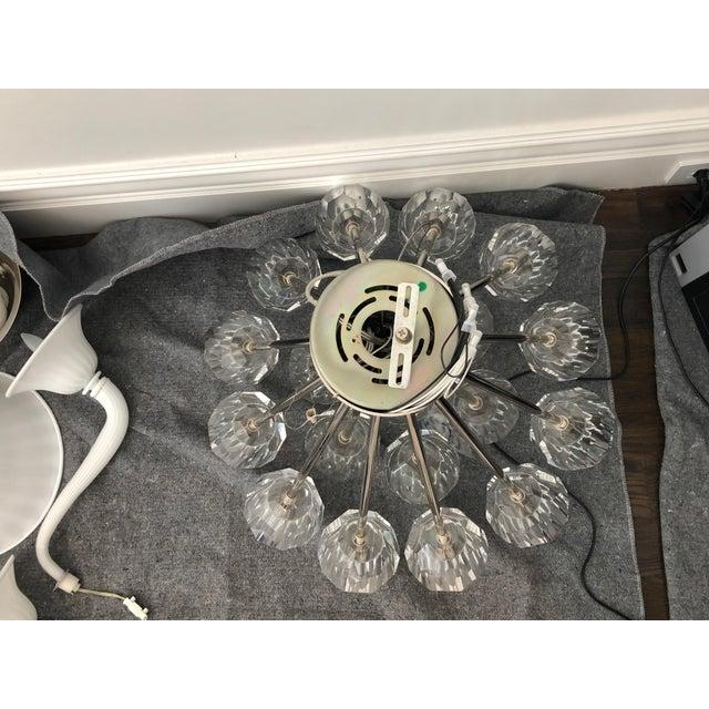 """Restoration Hardware Boule De Cristal Flushmount 24"""" Polished Nickel For Sale - Image 9 of 10"""