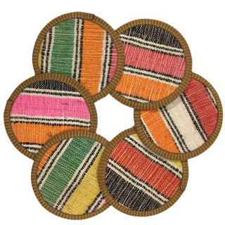 Kilim Coasters Set of 6 | Kahvehane For Sale