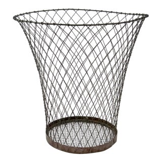 Antique Wire Trash Basket
