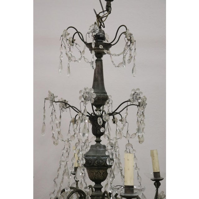Late 18th Century 18th Century Italian Louis XVI Crystals Antique Chandelier For Sale - Image 5 of 12