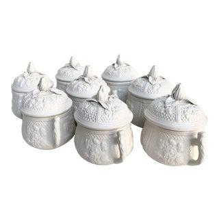 Vintage Mottahedeh Pots De Creme - Set of 8 For Sale
