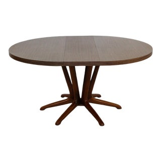1960s Mid-Century Modern Kodawood Dining Dinette Table & Leaf