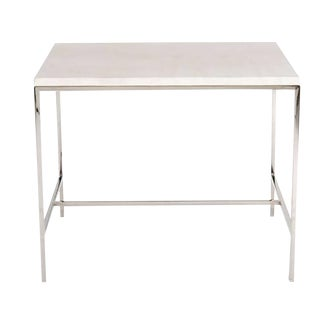 Customizable Hunter Travertine Top Side Table For Sale