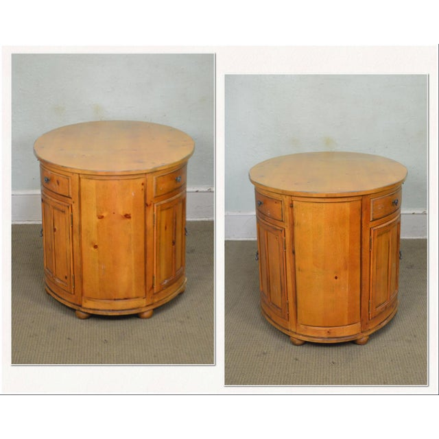 Traditional Drexel Heritage Pinehurst Collection Oval Desk For Sale - Image 3 of 13