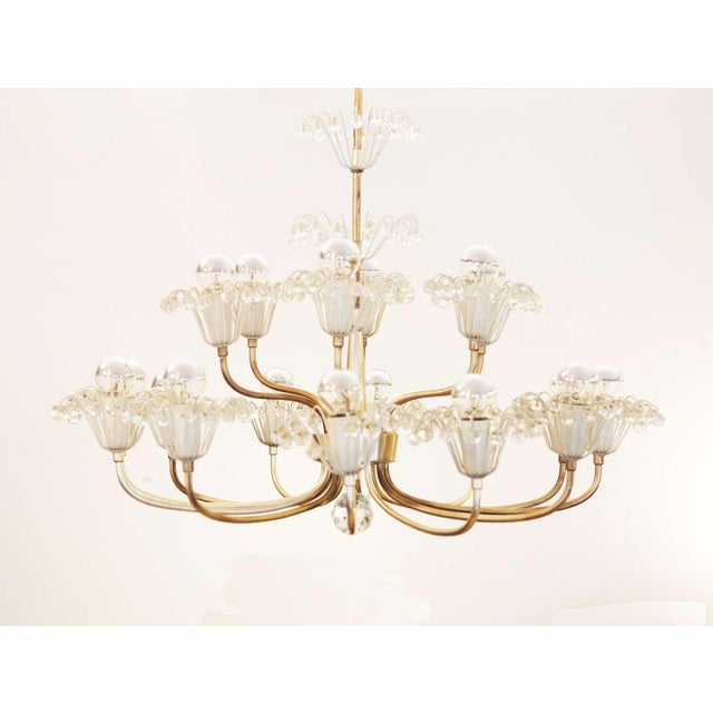 Large Mid Century Chandelier by Emil Stejnar for Rupert Nikoll For Sale - Image 9 of 9