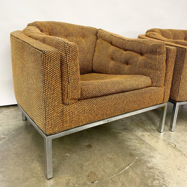 Pair of Modern Club Chairs Designed by Jules Heumann For Sale - Image 6 of 11