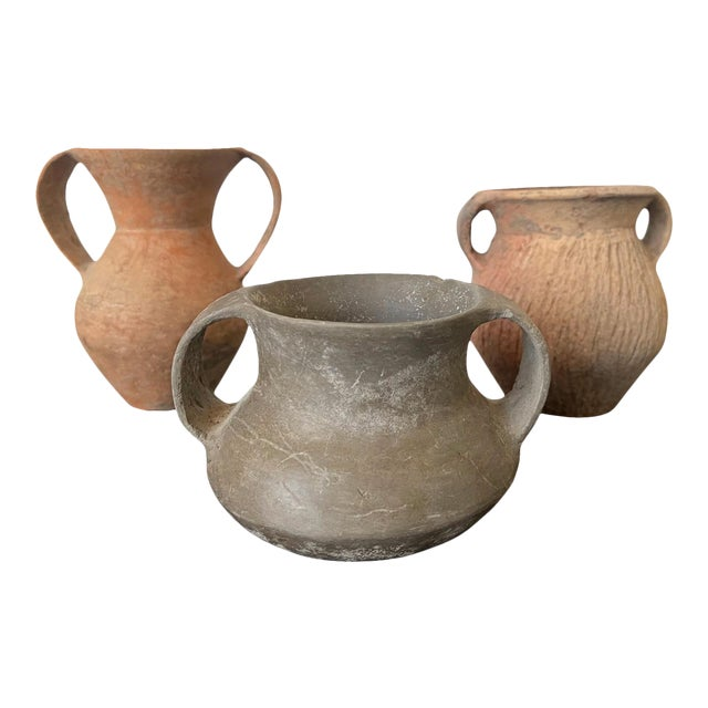 Chinese Neolithic Pottery - Set of 3 For Sale