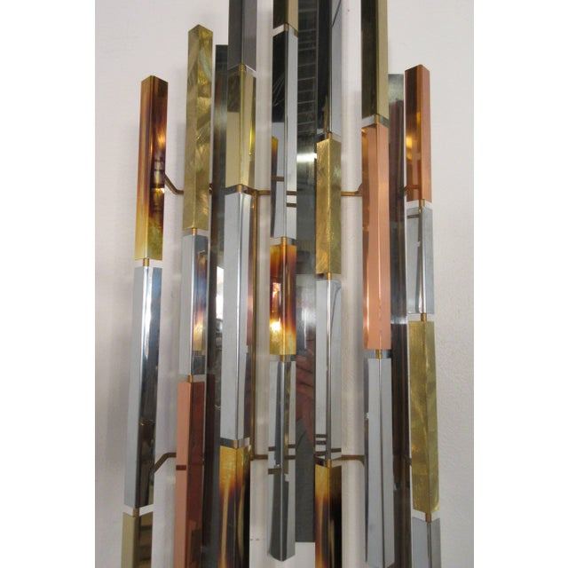 1970s 1970s MIX Metal Wall Sculpture For Sale - Image 5 of 11