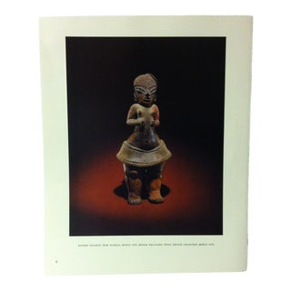 """Circa 1960 """"Pottery Figurine From Tlatilco - Mexico City"""" Treasures of Ancient America Mounted Print For Sale"""