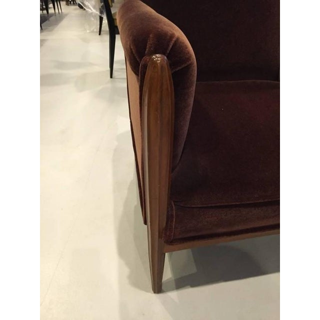 Art Deco French Art Deco Club Chairs Carved Front Legs - A Pair For Sale - Image 3 of 9
