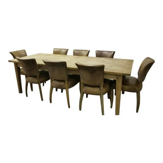 Restoration Hardware Dining Set - 9 Pieces For Sale