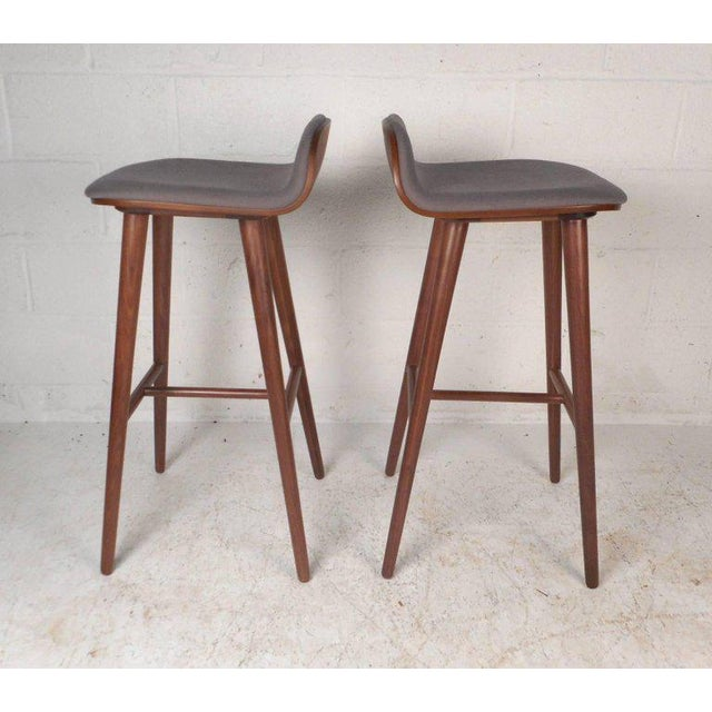 Contemporary Modern Bar Stools - A Pair For Sale - Image 4 of 8