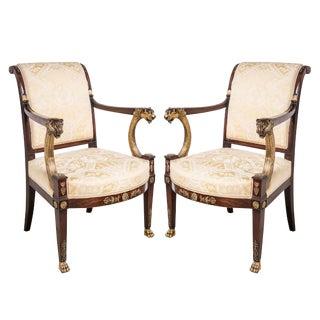Empire Fauteuil De Bureau Chairs - a Pair For Sale