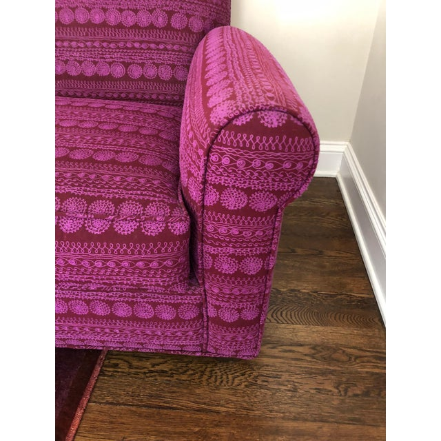 Pink Donghia St. James Loveseat For Sale - Image 8 of 13
