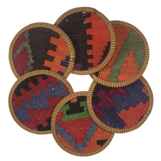 Kilim Coasters Set of 6 | Lokum For Sale