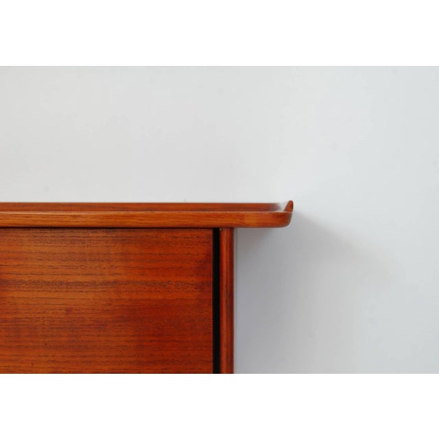1950s Teak and Wall Shelf and Mirror by Ludvig Pontoppidan For Sale - Image 5 of 8
