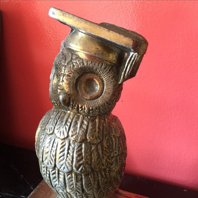 Colonial Virginia Brass Owl Bookends - Pair - Image 4 of 6