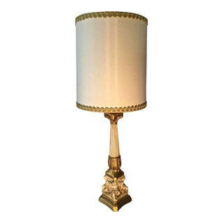 1950s Hollywood Regency Resin Cupid Lamp For Sale