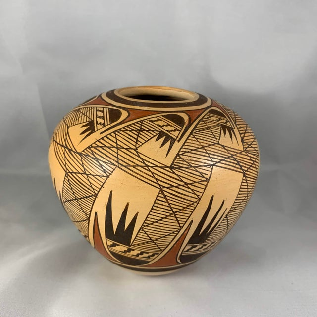 Late 20th Century Miriam Nampeyo Hopi Polychrome Seed Pot For Sale - Image 9 of 9
