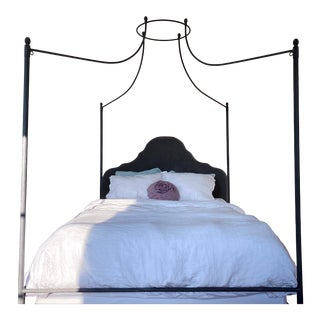 Restoration Hardware Iron Canopy Queen Sized Bed For Sale