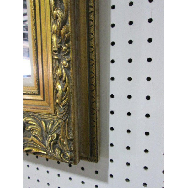 Antique Style Gold Wall Mirror For Sale - Image 4 of 4