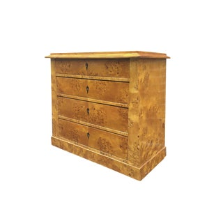 19th Century Biedermeier Burl Chest of Drawers or Commode For Sale