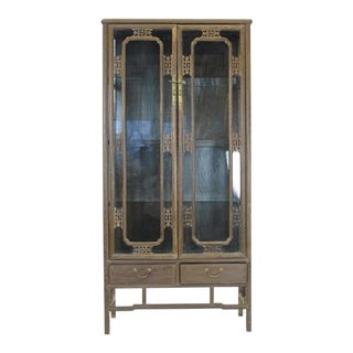 Asian Modern Style Display Cabinet For Sale