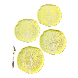 Vintage Yellow Cabbage Plates - Set of 4 Preview