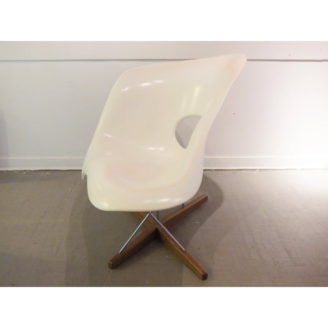 Vintage Eames Vitra White La Chaise Chair For Sale In Seattle - Image 6 of 10