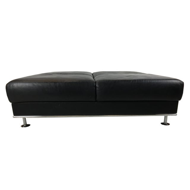 Black Huge Leather Ottoman by Matteograssi, Italy For Sale - Image 8 of 8