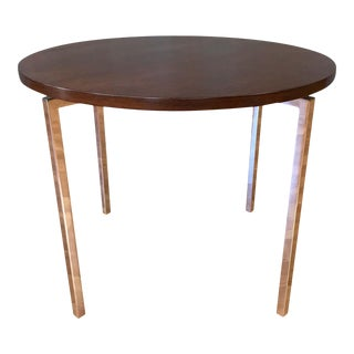Florence Knoll for Knoll Associates Rosewood & Polished Nickel Round Side Table For Sale