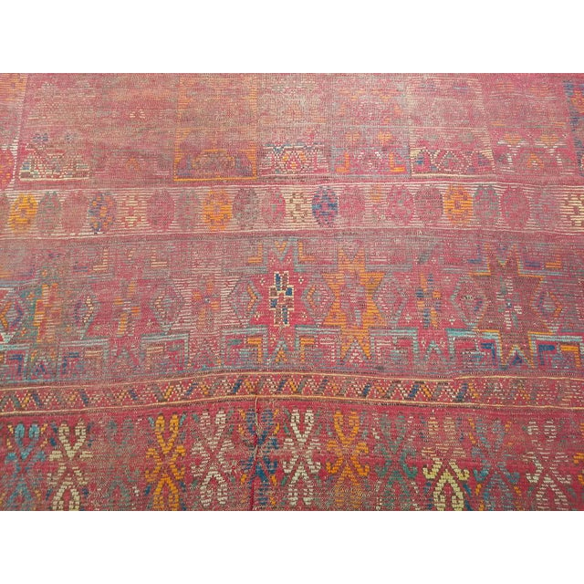 Textile 19th Century Moroccan Village Rug - 5′10″ × 14′5″ For Sale - Image 7 of 13