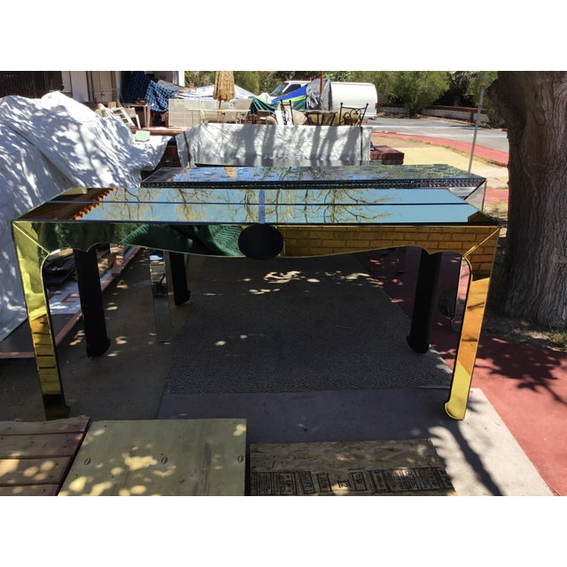 Gold Beveled Mirror Hall Table - Image 2 of 10