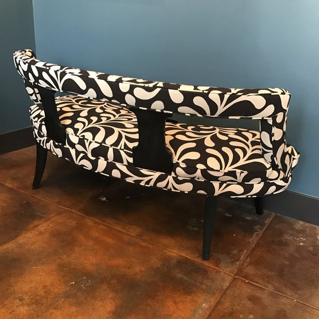 Black & White Botanical Loveseat - Image 4 of 8