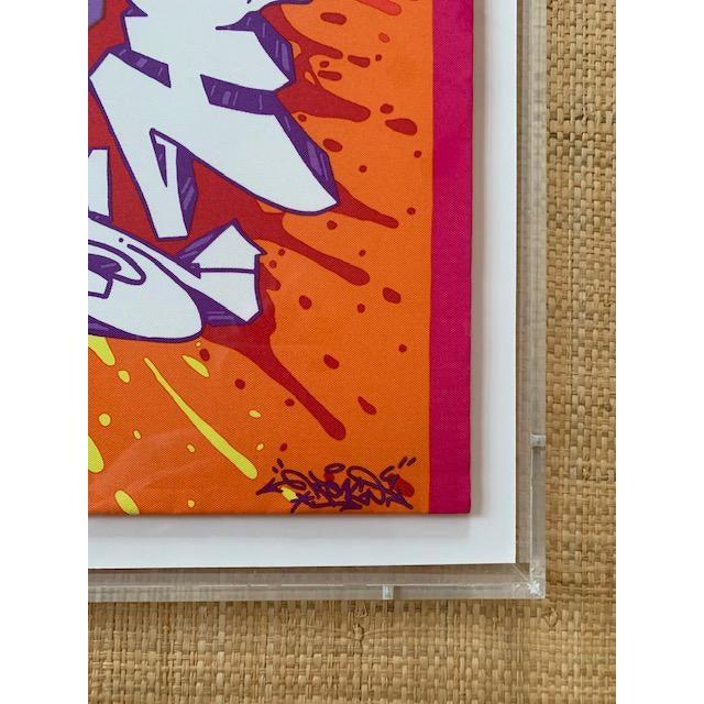 Op Art Hermes Scarf Framed in Plexiglass Box For Sale - Image 3 of 7