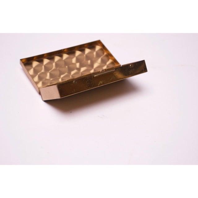 Pink Mid-Century Modern Enamel and Brass Cigarette Holder / Trinket Box For Sale - Image 8 of 10