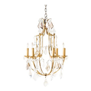 Late 19th Century Antique Crystal Chandelier For Sale