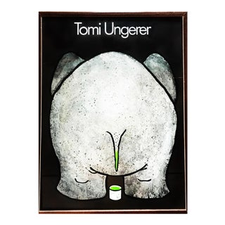 """Expect the Unexpected"" Pop Art Postmodern Tomi Ungerer Exhibition Elephant Print For Sale"