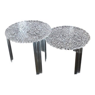 Hollywood Regency Kartell Patricia Urquiola Lucite Tables - a Pair For Sale
