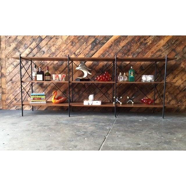 Custom Handmade Iron & Walnut Shelf - Image 5 of 5