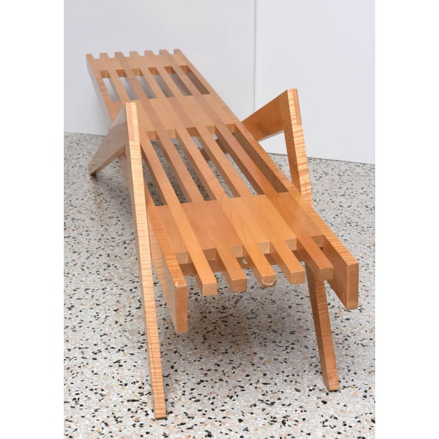 "Wood Bespoke Wood, ""Grasshopper"" Bench by the American Architect, Marc Phiffer For Sale - Image 7 of 10"