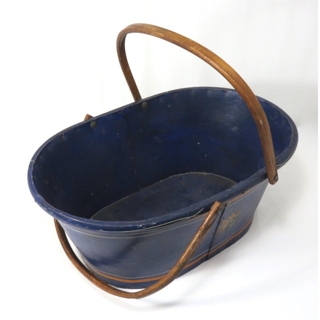 Wood 1890s Antique Grocery Shopping Carry Basket For Sale - Image 7 of 13