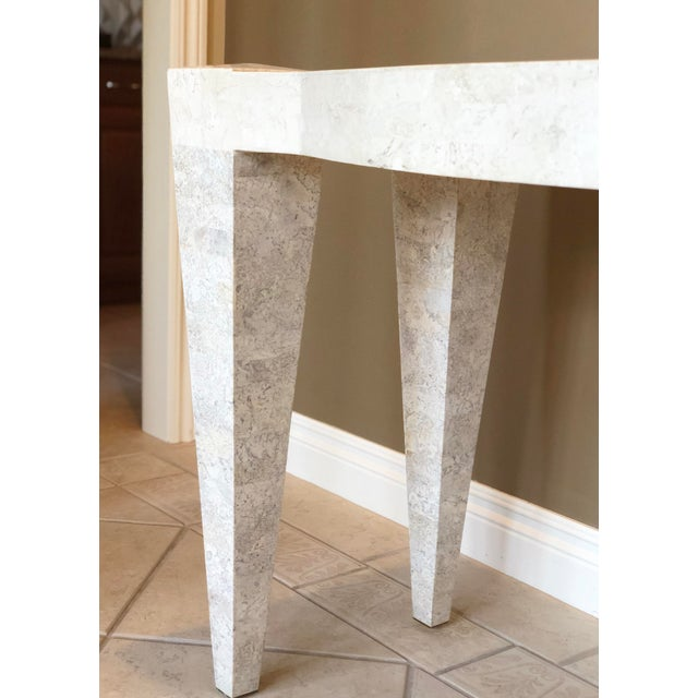 We are very pleased to offer a beautiful, sleek, contemporary marble console table, circa the 1980s. This beautiful...