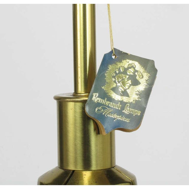 Rembrandt Brass & Azure Blue Table Lamp For Sale In Chicago - Image 6 of 8