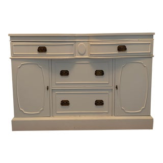 Federal Style Painted Buffet Credenza Sideboard Dresser For Sale