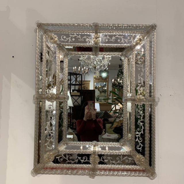 French Vintage Murano Mirror For Sale - Image 3 of 13