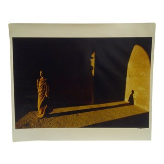 """""""Shadow of a Monk"""" Signed Numbered Color Photograph"""