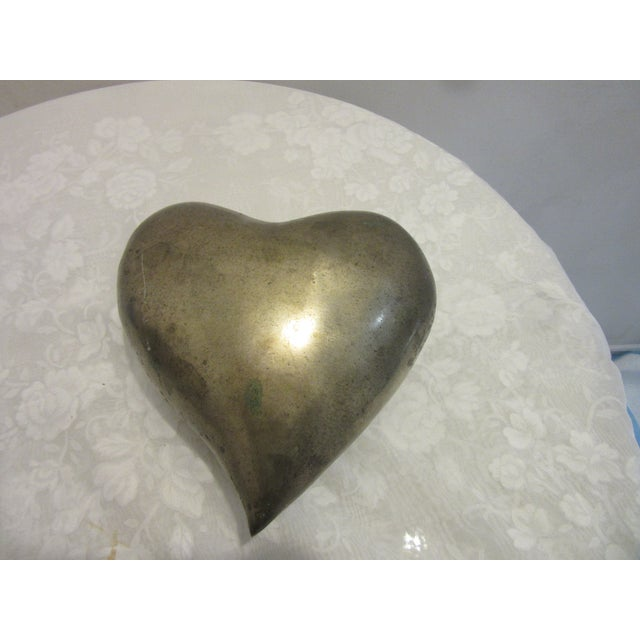 1970's molded brass heart in original condition. It Would make a great Valentine's Day gift.