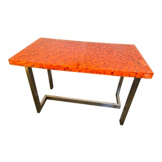 Resin Fractal Inclusion Console Table Desk by Thomas Brant. France 2014 For Sale